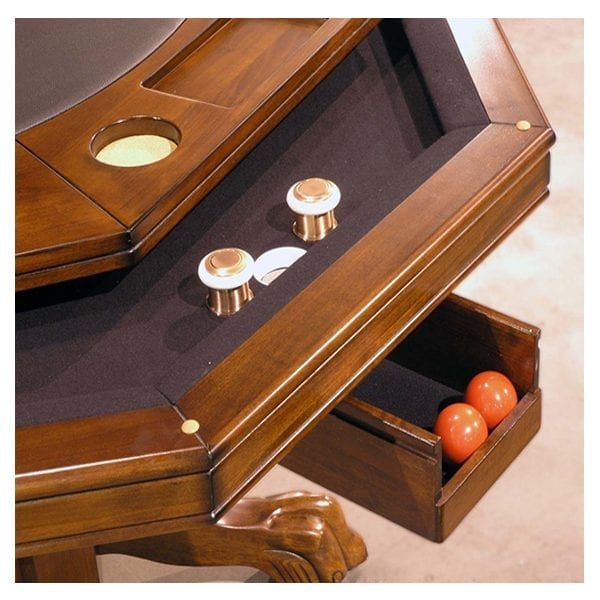 Chestnut Combination Game Table with Bumper Pool