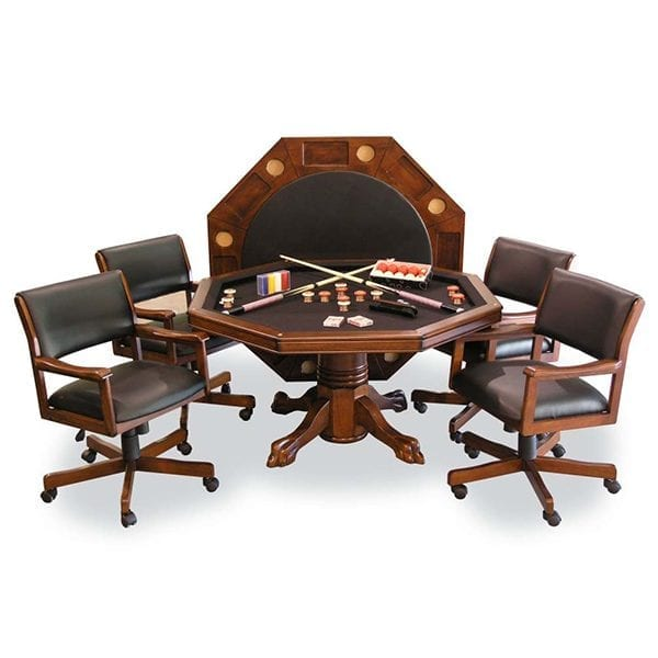 Combination Game Table Set with 4 Chairs