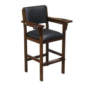 Chestnut Signature Pool Table Chair with recessed Cup-Holders