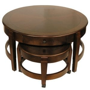 Classic Nesting Coffee Table with Drawer