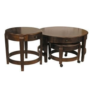 Classic Nesting Coffee Table Set and Accent Table Combo