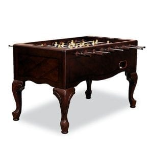 Mahogany Foosball Table with Queen Ann Legs