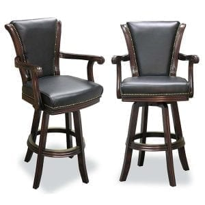 Swivel Barstools W/ Carved Arms