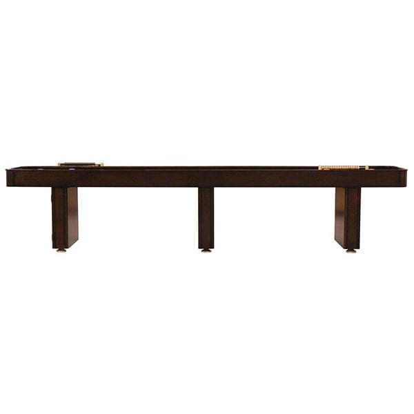 Mahogany Fine Crafted Shuffleboard Table with Storage Cabinet