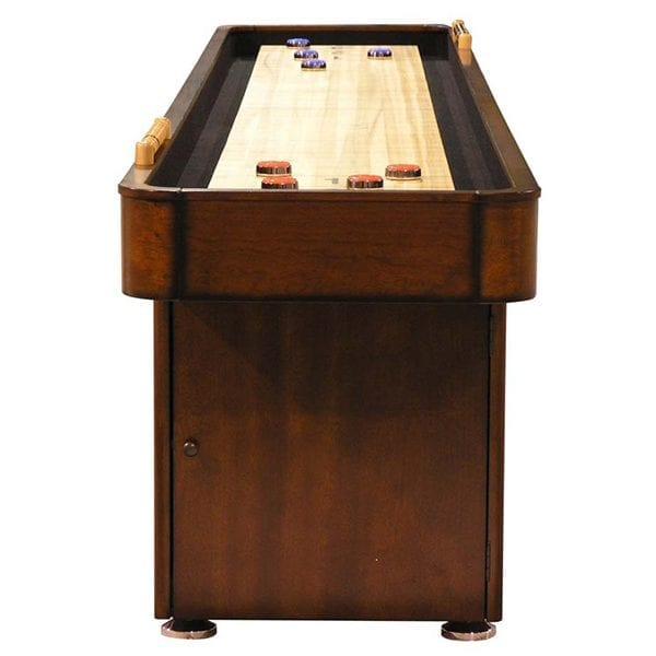 Chestnut Fine Crafted Shuffleboard Table with Storage Cabinet